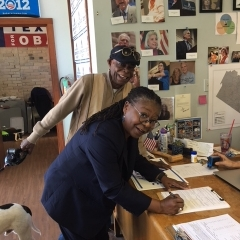 Judge Williams filing to run for the 2018 Primary for re-election to JP Pct 1 with Oran McMichael